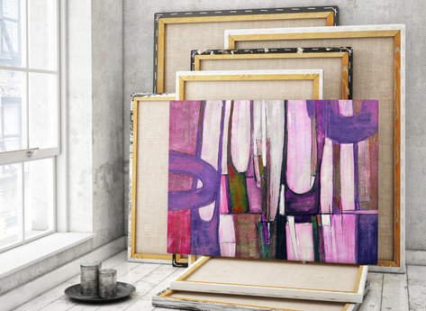 Abstract Oil Painting - April
