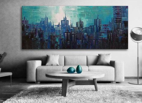 Abstract Honolulu Blue City