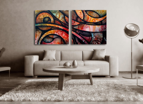 Abstract painting Saint Clair