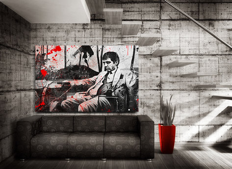"""Scarface Canvasprint  """"Bloody"""""""