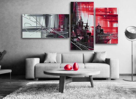 Abstract Red city