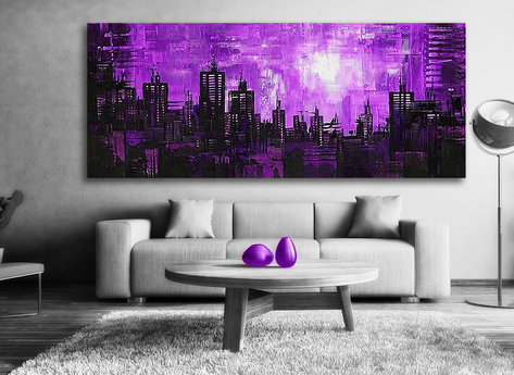 Abstract Purple night