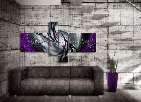 Abstract Mystic Purple