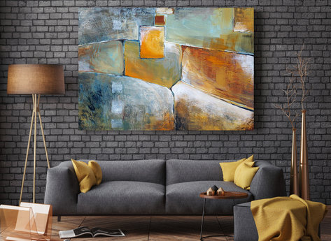 Abstract Oil Painting - Chestnut