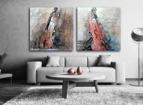 Abstract painting Cello