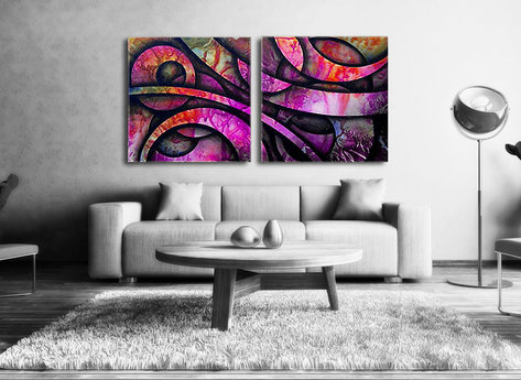 Abstract painting Saint Tropez