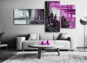 Abstract Purple city