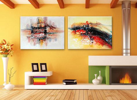 Abstract painting Sunshine Coast