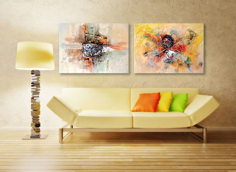 Abstract painting Mount Isa