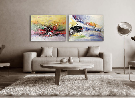 Abstract painting Malmö